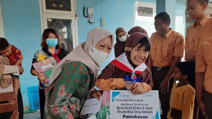 FRPB Pamekasan dan Rengganis Indonesia Bagikan Bantuan Tambahan Gizi dan Alat Sekolah untuk Difabel
