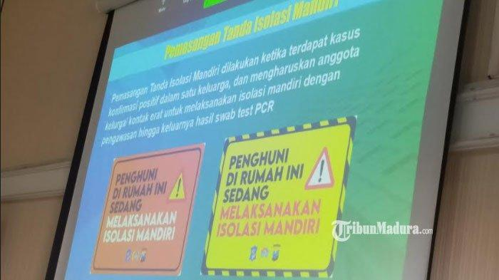 Pemkot Surabaya TempeliRumah Warga yang Digunakan untuk Isolasi Mandiri dengan Stiker Khusus ini