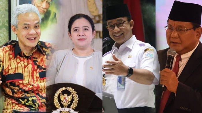 Prabowo, Anies, Ganjar Hingga Puan Maharani, Elektabilitas Siapa yang Paling Unggul dari 7 Survey?