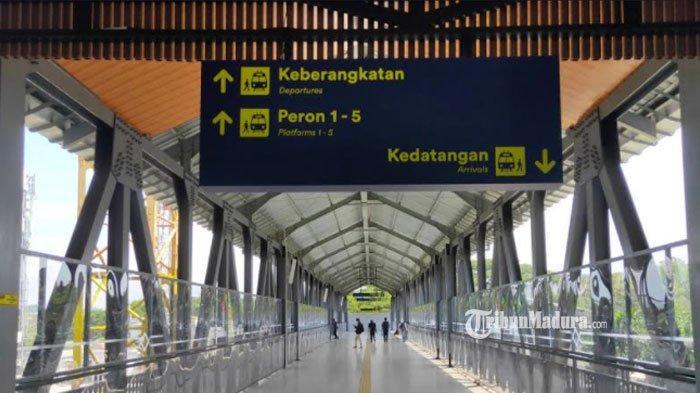 Gedung baru Stasiun Malang, Senin (10/4/2021)