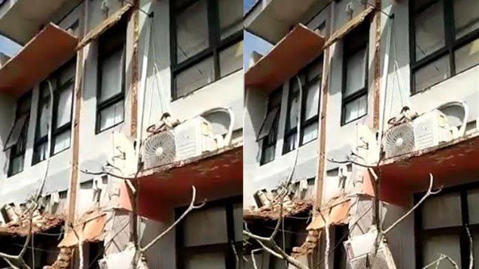 BREAKING NEWS - Gedung Kantor Dinkes Sumenep Runtuh,Padahal Bangunan Telan Dana Anggaran Rp 4,5 M