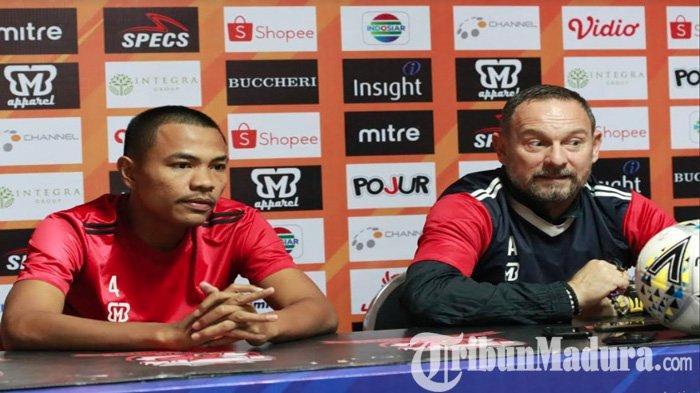 Jika Dimainkan Lawan Bali United, Begini Janji Asep Berlian ke Pelatih Madura United Dejan Antonic