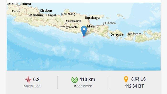 Gempa Jatim, Jumat (21/5/2021).