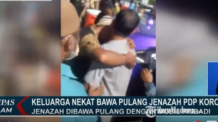 Keluarga Nekat Robek Plastik Jenazah Pasien PDP Virus Corona, Polisi Lakukan Pendataan Pelayat