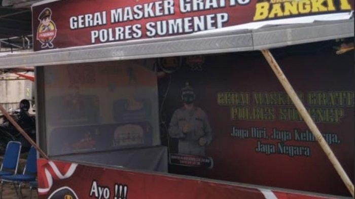 Gerai Masker Gratis Polres Sumenep Sepi Peminat, Polisi: Sudah Lelah, Covid-19 Ini Cukup Panjang