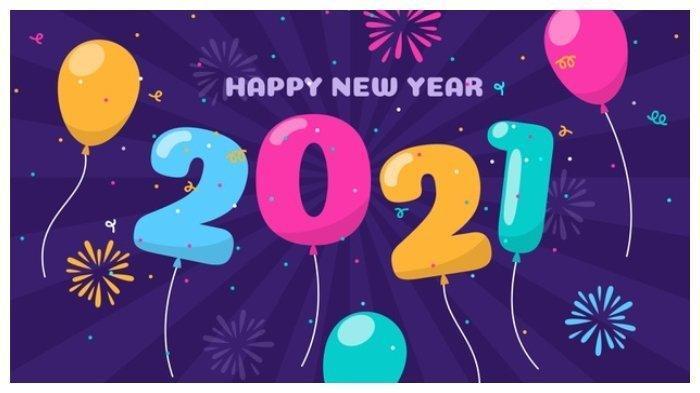 10 Ucapan Selamat Tahun Baru 2021, Bagikan dan Download Gambar Begerak Happy New Year GIF di Sini!