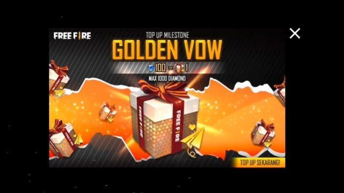 Update Kode Redeem FF Terbaru atau Free Fire Awal Maret 2021, Kesempatan Dapatkan Golden Vow