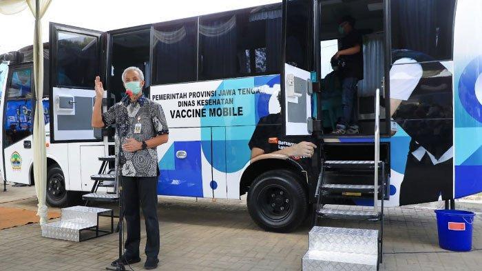 Upaya Percepatan Vaksinasi di Jawa Tengah, Ganjar Pranowo Resmikan Bus Vaksin untuk Daerah Terpencil