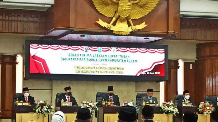 Positif Covid-19, Gubernur Jatim Khofifah Sampaikan Sambutan Sertijab Bupati Tuban Secara Virtual