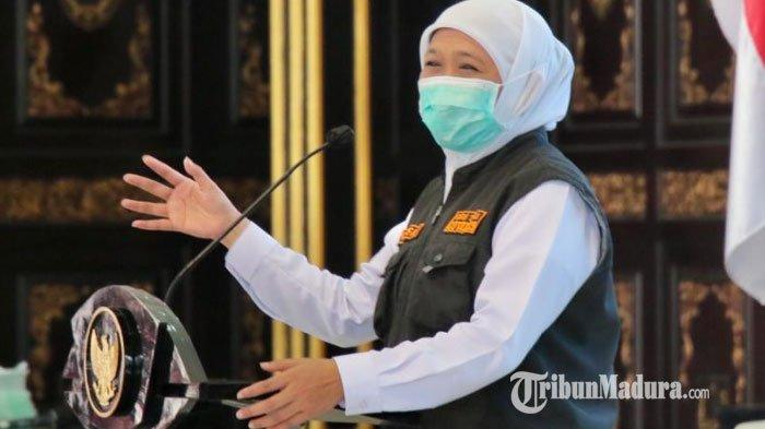 Khofifah Positif Covid-19, Gubernur Jatim Berikan Imbauan ke Masyarakat Soal Protokol Kesehatan