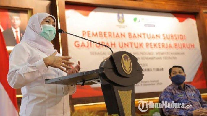 Bantuan Subsidi Upah untuk Pekerja Peserta BPJS Ketenagakerjaan di Jatim Baru Tersalurkan 32 Persen