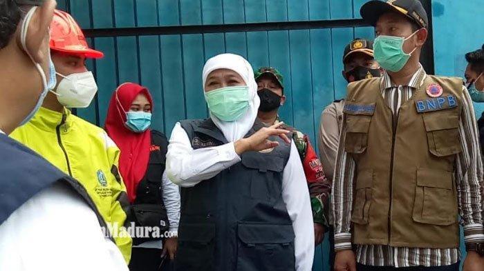 Gubernur Jatim Khofifah Tinjau Langsung Instalasi Pompa Banjir di Sampang, Begini Harapannya