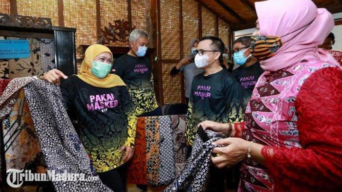 Gubernur Jawa Timur Berkunjung ke Banyuwangi, Semangati Pelaku UMKM Agar Optimis di Tengah Pandemi