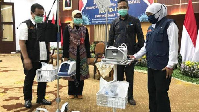 Upaya Tekan Angka Kematian Kasus Covid-19, Pemprov Jatim Distribusikan Alat HNFC ke RS Rujukan