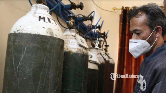 Tabung Oksigen di Kabupaten Sampang Mulai Langka, Harga Per Tabung Besar Kini Capai Rp 4 Juta