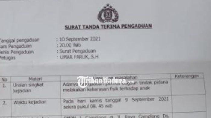 Seorang Guru di Camplong Sampang Dilaporkan ke Polisi Diduga Lakukan Kekerasan Terhadap Muridnya