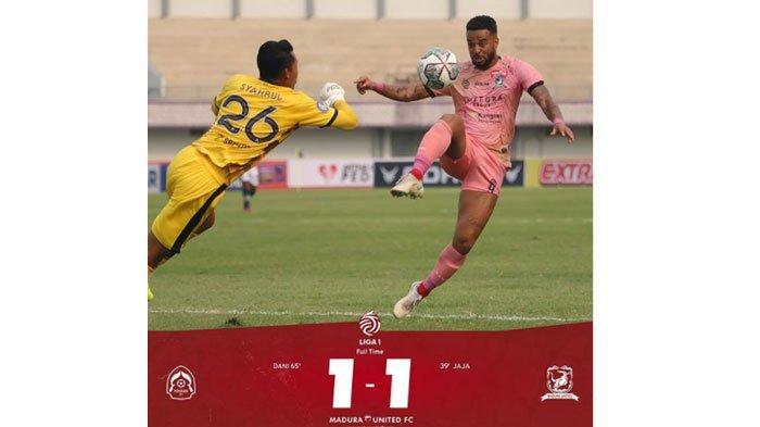 Hasil Akhir Laga PS Tira Vs Madura United, Gol Ahmad Nofiandani Gagalkan Tim Tamu Bawa 3 Poin