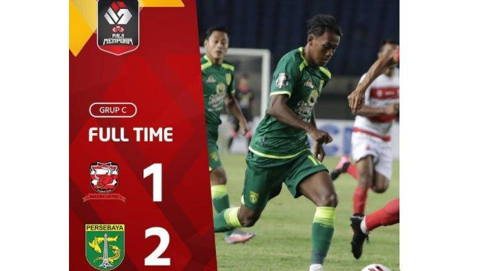 Hasil Akhir Madura United Vs Persebaya, Gol Rendi Irwan Bawa Bajul Ijo ke Puncak Klasemen Grup C
