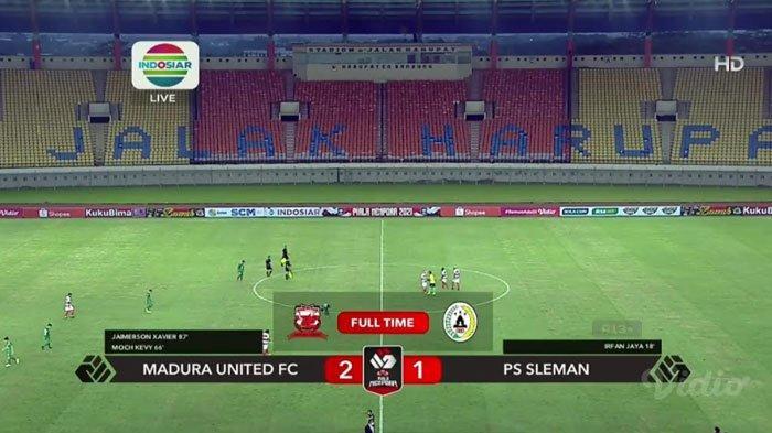 Hasil Madura United Vs PS Sleman: Sempat Tertinggal, Laskar Sapeh Kerrab Berhasil Raih Kemenangan