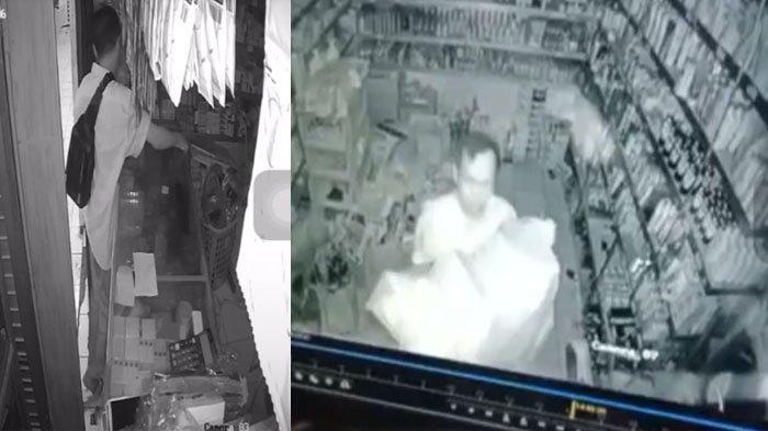 Pembobolan Kios di Pasar Srimangunan Terekam CCTV, Pelaku Sempat Buka Rolling Door & Angkat Etalase
