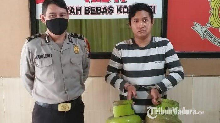 Pria Surabaya Nekat Gondol 2 Tabung Gas di Menganti Gresik, Tertangkap di Check Point Covid-19