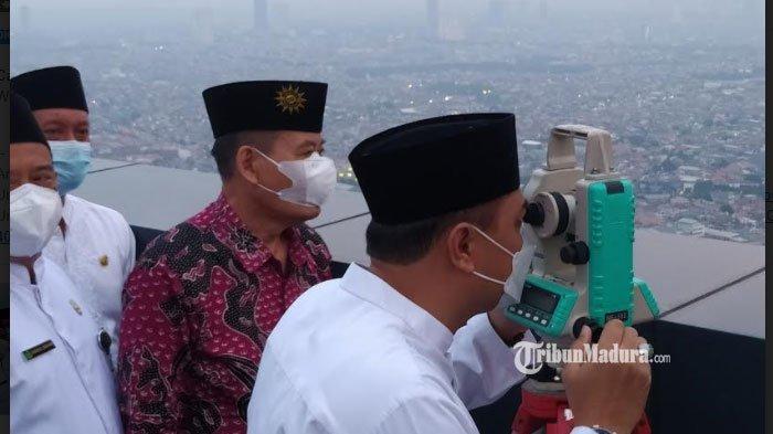BREAKING NEWS - Pengamatan Rukyatul Hilal 1 Ramadan 1442 H di Surabaya Belum Terlihat, Ini Sebabnya