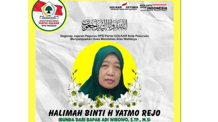 Ibunda Wakil Wali Kota Pasuruan Adi Wibowo Meninggal, DPD Partai Golkar Sampaikan Duka Mendalam