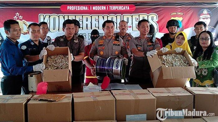 BREAKING NEWS - Dua Penjual Ikan Asin di Pasuruan Dibekuk Polisi, Diduga Jual Ikan Berformalin
