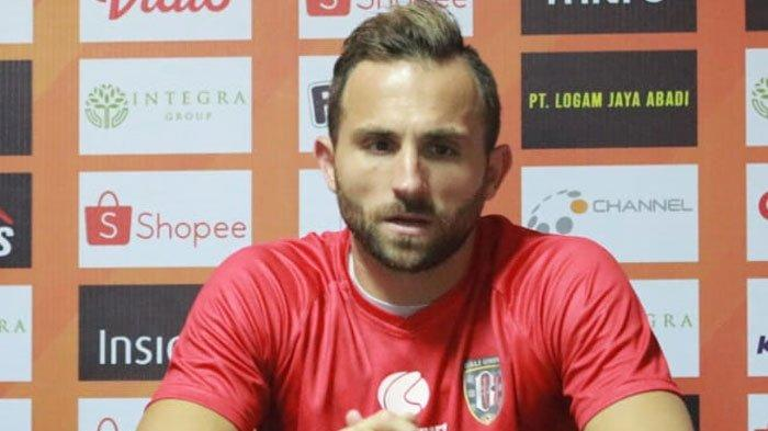 Madura United Vs Bali United,Asep Berlian Minta Rekan Timnya Waspadai PergerakanIlija Spasojevic