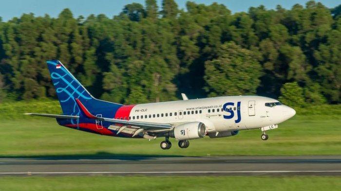 ILUSTRASI Berita Kecelakaan Sriwijaya Air - Pesawat Boeing 737-500 SJ 182 dengan nomor registrasi PK-CLC milik Sriwijaya Air mendarat di Bandara Sepinggan, Balikpapan, Juni 2019.
