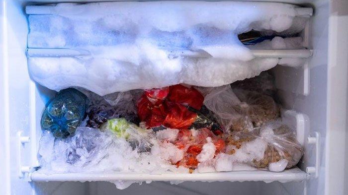 Ilustrasi freezer kulkas.