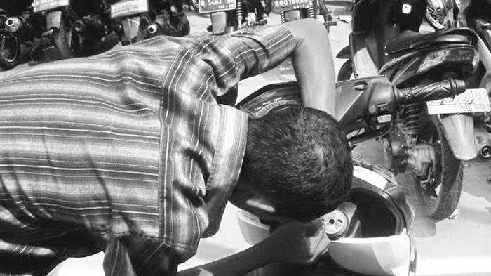 Aksinya Ketahuan Warga, Pencuri Motor di Malang Ceburkan Diri ke Sungai