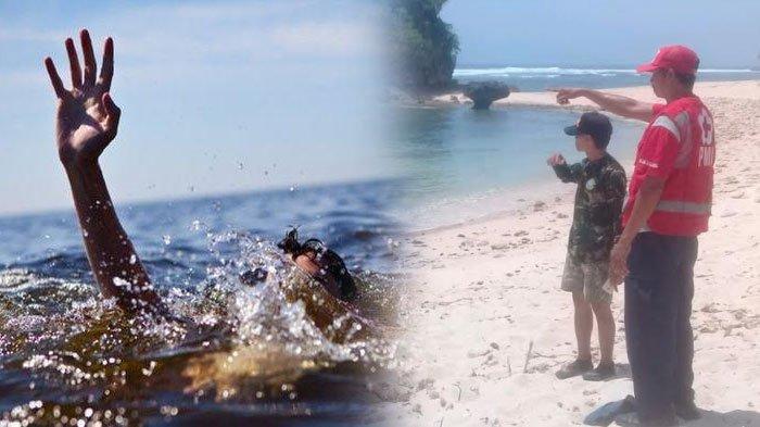Datang Berempat ke Pantai, Mahasiswa Universitas Brawijaya Terseret Ombak, Upaya Pencarian Dilakukan