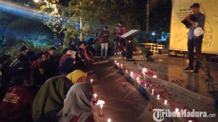 IMM Kota Surabaya Gelar Aksi Solidaritas Kematian Mahasiswa UHOdi Monumen Perjuangan Polri
