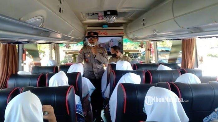 Pulang Kampung ke Pamekasan, Santriwati Ponpes Al Amien Parenduan Sumenep Dapat Imbuan Prokes