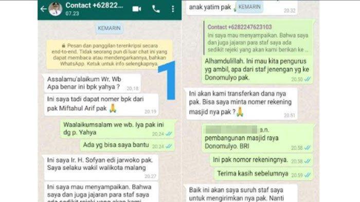 Waspada Modus Penipuan Berkedok Nama Wakil Wali Kota Malang, Minta Transfer Dana Pembangunan Masjid