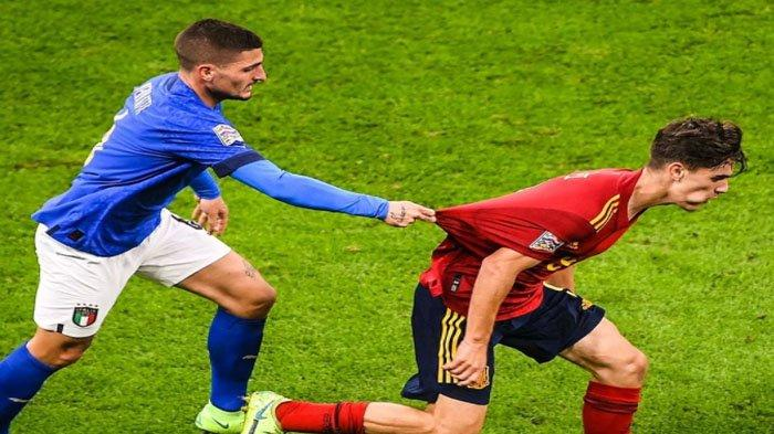Italia Dipermalukan Spanyol 1-2, Impian Roberto Mancini Kawinkan Dua Piala Sirna