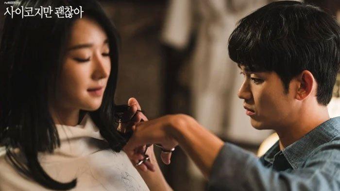 Sinopsis Lengkap Drama KoreaIts Okay to Not Be Okay Episode 8,Moon Gang Tae Terbakar Cemburu