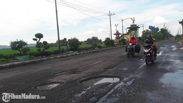 Jalan Nasional Sumenep-Pamekasan Rusak,Dinas PU Bina Marga Sumenep Beri Tanggapan
