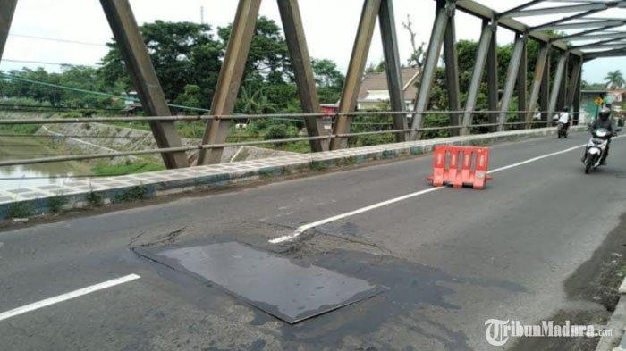 Jembatan Karangrejo Ambles, Jalur Alternatif Trenggalek-Kediri via Ngujang Tulungagung Ditutup