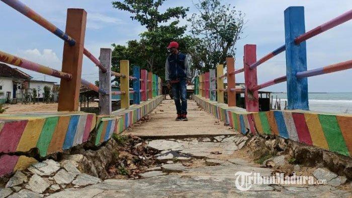 Jembatan di Kawasan Wisata Kera Nepa Sampang Rusak, Kepala Desa Berharap Pemerintah Daerah Tanggap