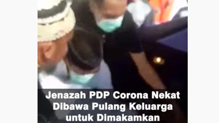VIDEO Jenazah PDP Virus Corona Dibawa Pulang Keluarga, Isak Tangis Menyambut dan Buka Plastik Kedap