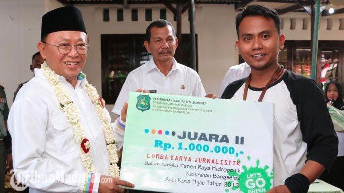 Jurnalis TribunMadura.com Raih Juara Lomba Jurnalistik 2019 Bertema Hidroponik di Sumenep