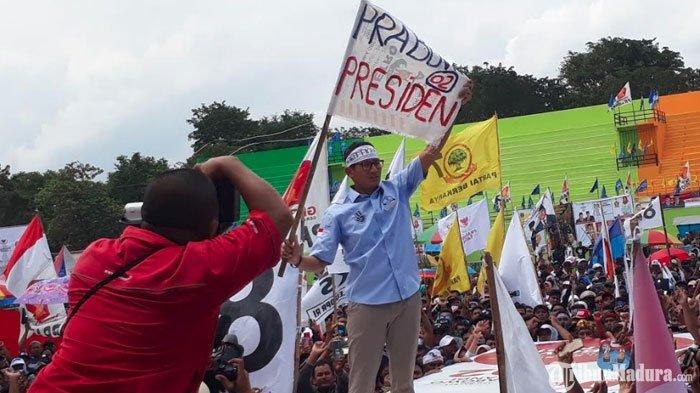 Sandiaga Uno Gelar Kampanye Akbar Pemilu 2019 diStadion Semeru Lumajang