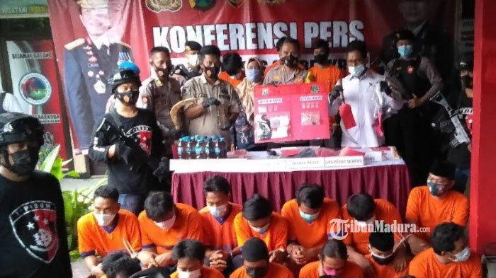 16 Orang Ditangkap Dalam 7 Kasus Premanisme Jelang Pilkades Serentak 2021 Bangkalan Madura