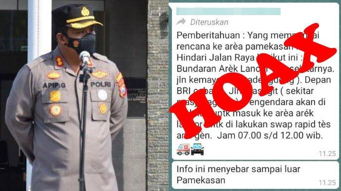Viral di WhatsApp Pemberitahuan Rapid Antigen di Bundaran Arek Lancor Pamekasan, Kapolres: Hoaks