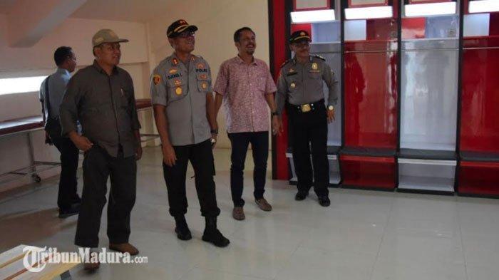 Polres Pamekasan Lakukan Pengamanan, Harap Laga Perdana Madura United Vs Barito Putera Berjalan Aman