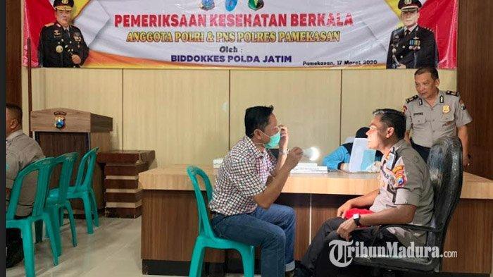 Bidokkes Polda Jatim Periksa Kesehatan Berkala Anggota dan ASN Polres Pamekasan, Berikut Hasilnya