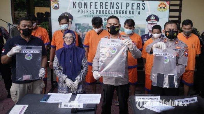Perang Terhadap Narkoba, Polres Probolinggo Kota Tangkap Enam Pengedar Sabu