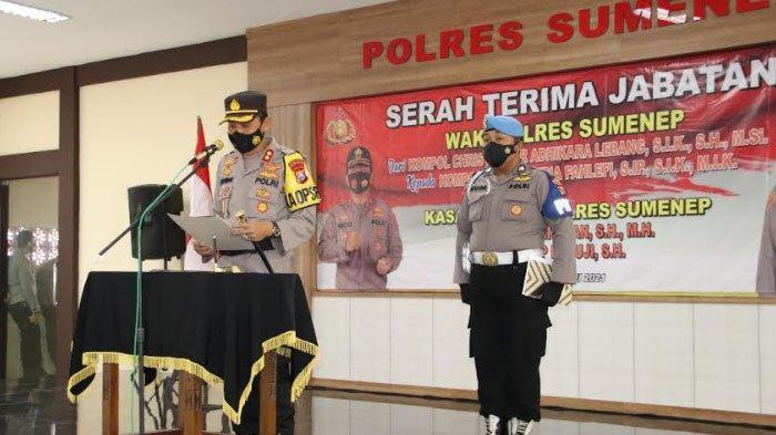 Kapolres Sumenep Pimpin Upacara Sertijab Wakapolres dan Kasat Lantas yang Dimutasi